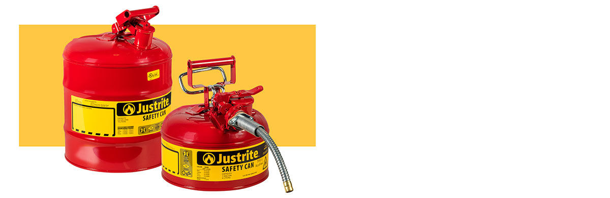 Justrite Safety Cans and Containers